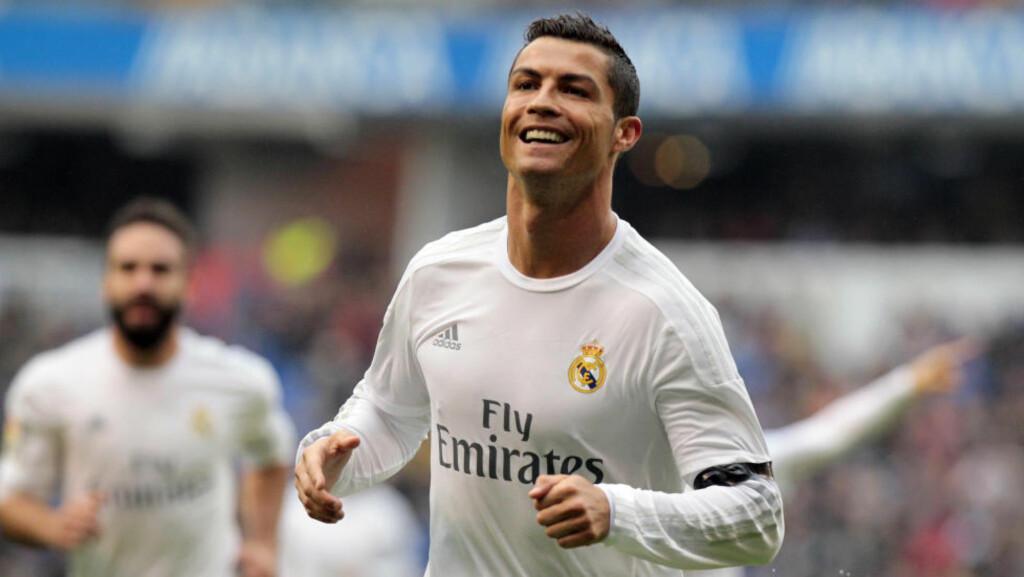 KNUSER REKORDER: Cristiano Ronaldo scorer i et historisk høyt. Men er han tidenes beste europeiske fotballspiller? Foto: AP Photo/Lalo R. Villar