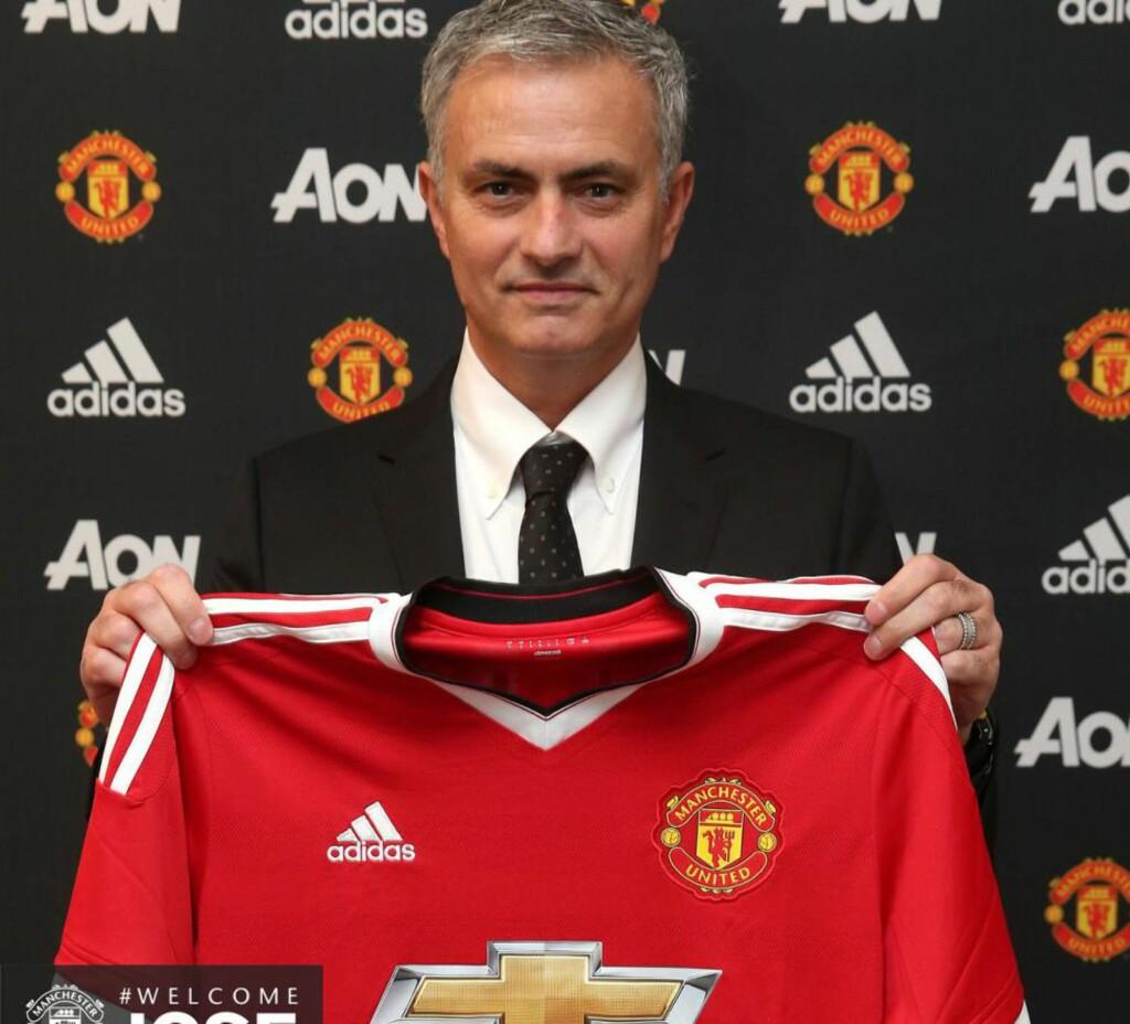 KLAR: Fredag ble José Mourinho presentert som United-trener. Foto: Manchester United