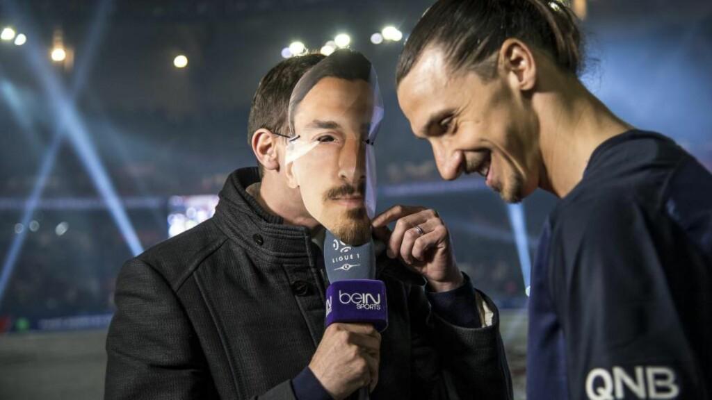 FØRSTE INTERVJU: Zlatan Ibrahimovic ville at journalisten skulle ha på seg en Zlatan-maske under intervjuet. Foto: ORRE PONTUS  / Aftonbladet / IBL Bildbyrå / NTB Scanpix