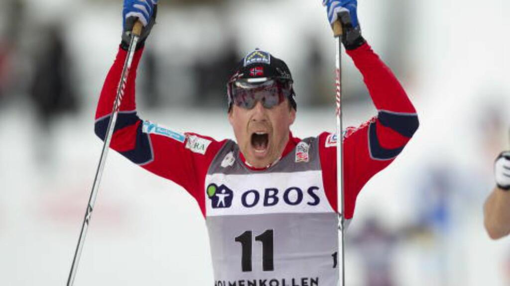 JUBEL: Elleve ganger har Eldar Rønning jublet for verdenscupseier. Foto: Terje Bendiksby / Scanpix