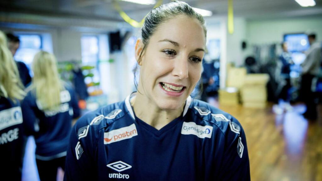 ÅPNER FOR NORGE-RETUR: Betine Riegelhuth kan forlate danske Team Esbjerg og komme tilbake til Norge og Storhamar. Her fra håndball-VM i desember. Foto: Bjørn Langsem / Dagbladet