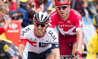 <strong>FAVORITTER:</strong> IAMs Sondre Holst Enger og Katjusjas Alexander Kristoff er begge blant favorittene på dagens etappe i Tour de France. Foto: Audun Braastad / NTB scanpix
