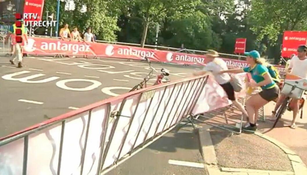 Postbud gikk amok da kvinnelig vakt nektet ham å krysse veien under Tour de France-etappe