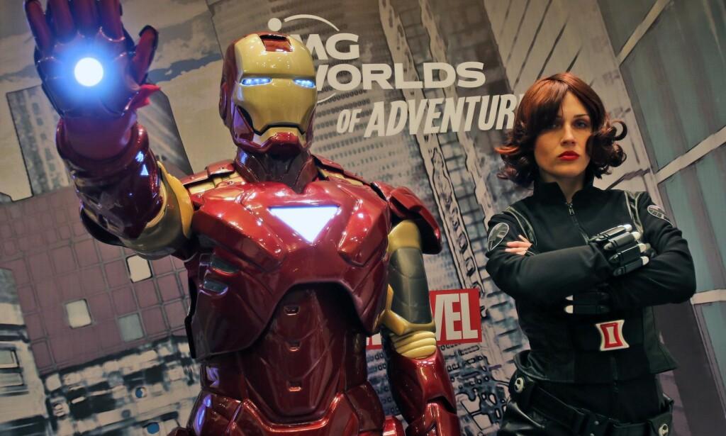 SUPERHELTER: Iron Man og Black Widow er velkjente superhelter i Marvels tegneserieunivers. Nå får selskapet kritikk for sitt siste påfunn. Foto: AP Kamran Jebreili / NTB Scanpix