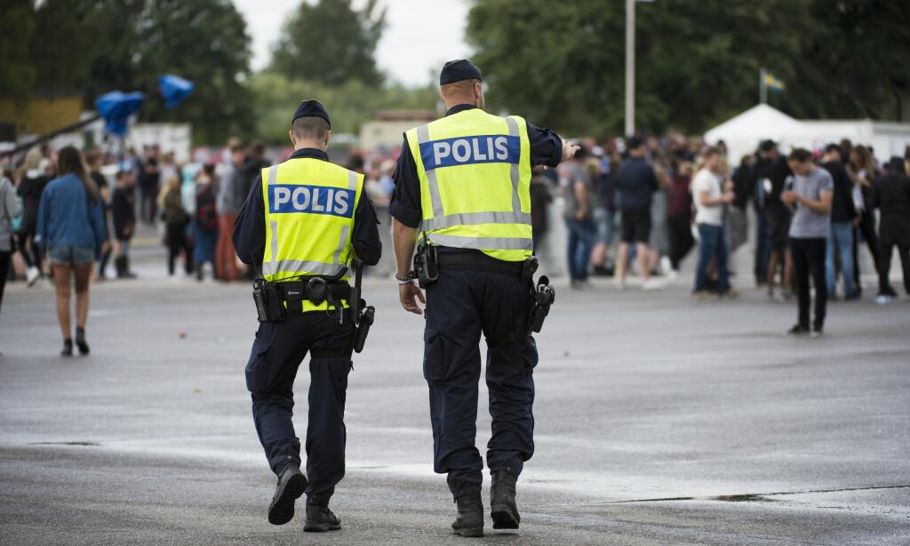 OVERGREP: Det har blitt anmeldt en rekke seksuelle overgrep på festivaler i Sverige. Dette bildet er tatt på Bråvalla-festivalen i Norrköping, hvor det ble anmeldt fem voldtekter. Foto: Izabelle Nordfjell/TT/NTB Scanpix
