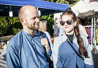 <strong>GÅR ALDRI ALENE:</strong> Paret Anders Abelseth (24) og Anja Nedremo (27) sier de aldri går alene hjem fra byen. Foto: Christian Roth Christensen / Dagbladet