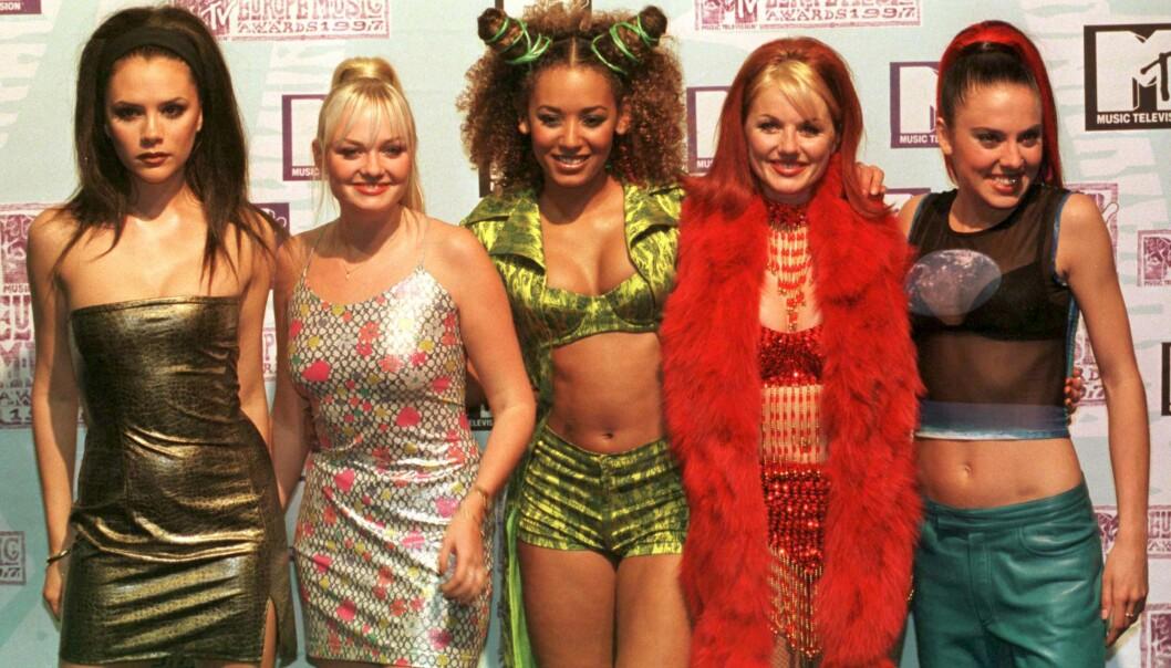 <strong>SAMMEN:</strong> Spice Girls hadde sin storhetstid fra 1994 til 2000. F.v: Victoria Beckham, Emma Bunton, Melanie Brown, Geri Halliwell og &nbsp;Melanie Chisholm. Foto: NTB / Scanpix