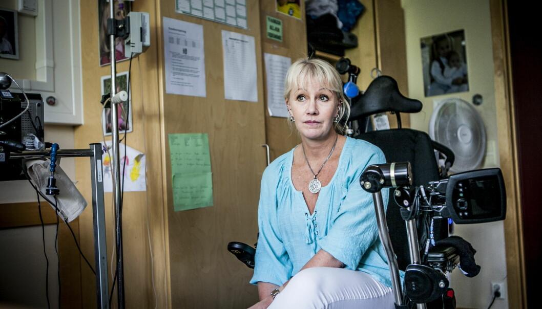 <strong>GIR IKKE OPP:</strong> Veronia forteller at hun ikke kommer til å gi seg før Terje får et permanent behandlingstilbud. Foto: Christian Roth Christensen / Dagbladet