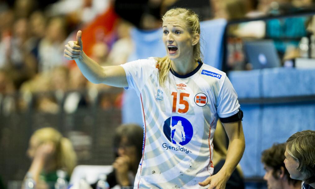 <strong>EGEN KLASSE:</strong> Linn Jørum Sulland, her i landslagsdrakt, dominerte i mesterligaen i dag. Foto: Vegard Wivestad Grøtt / NTB Scanpix