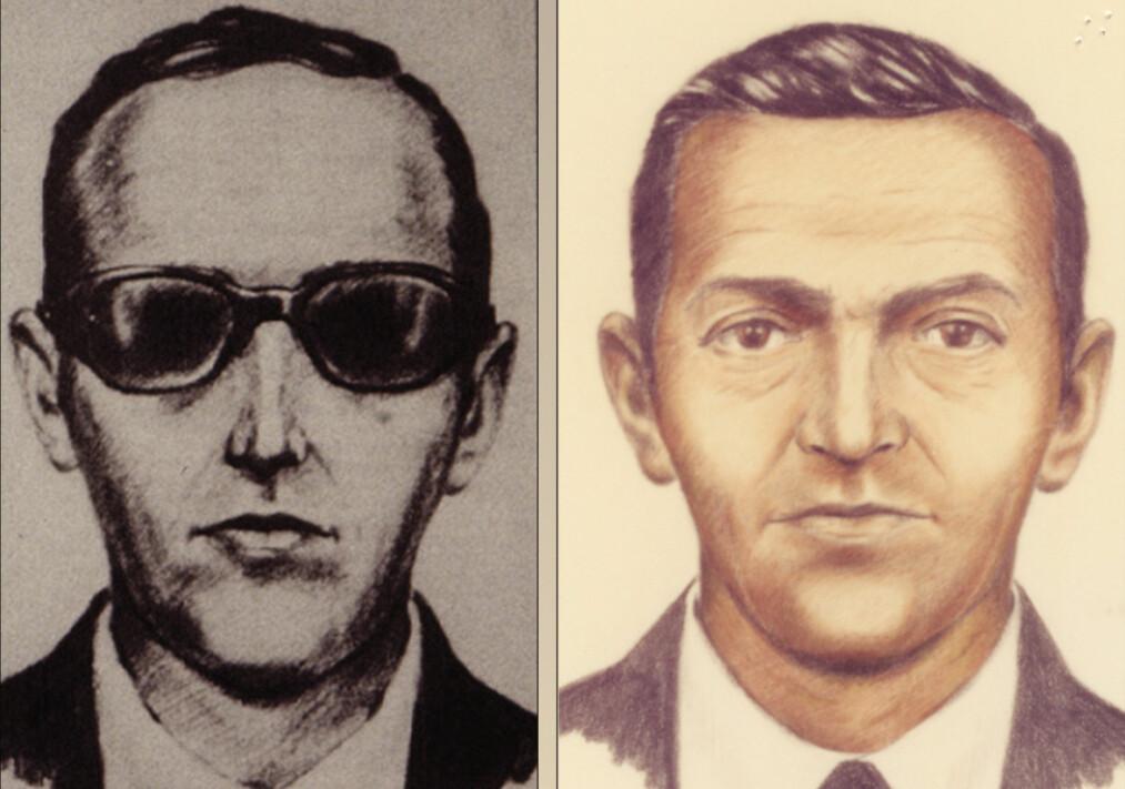 <strong>KAPRET:</strong> Dan Cooper kapret et fly, presset FBI for ti millioner kroner, og hoppet ut i fallskjerm. I 45 år har FBI jaktet på ham, men nå gir de opp. Foto: NTB Scanpix