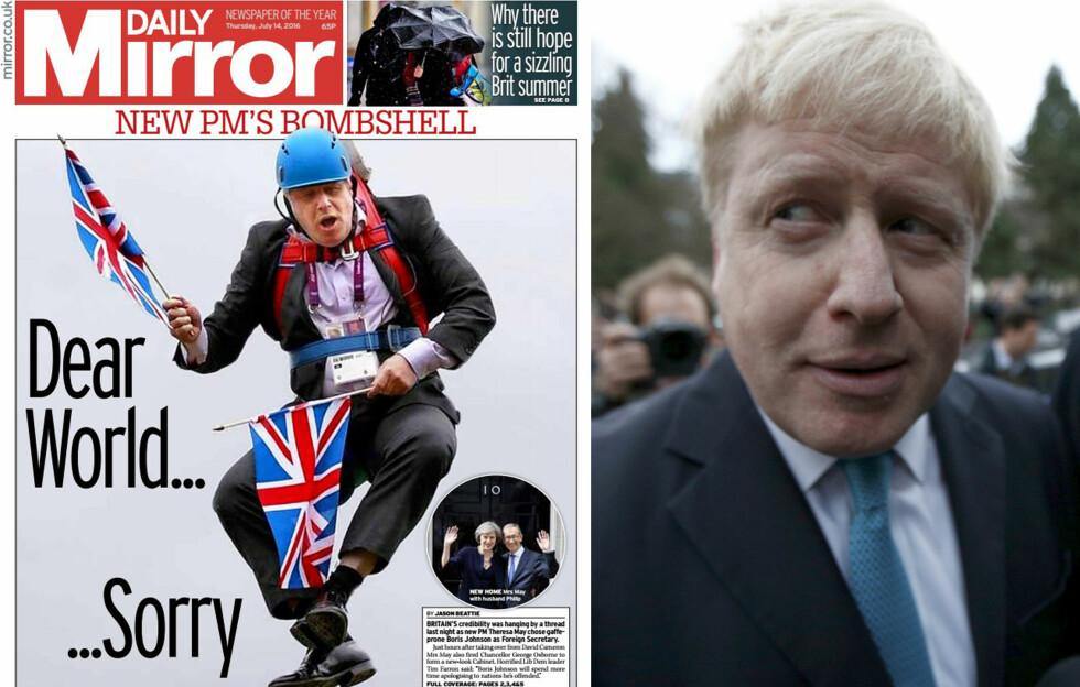 Faksimile: Daily Mirror / Foto: Peter Nicholls/Reuters/NTB Scanpix