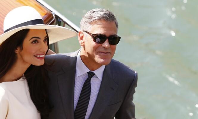 "GIFTET SEG: Ekteparet Clooney giftet seg <span style=""font-size: 14px; font-weight: normal;"">i Venezia, Italia </span>i 2014 Foto: NTB scanpix"
