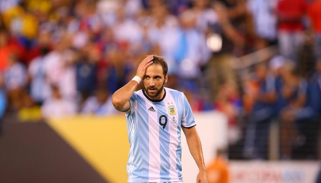 <strong>SELGES FOR REKORDSUM:</strong> Gonzalo Higuaín har vært linket til flere klubber. Nå skal han være klar for Juventus. Foto: Mike Stobe/Getty Images/AFP