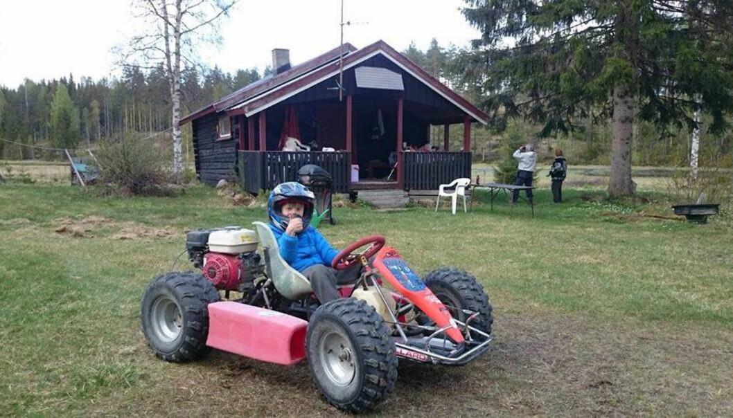 <strong>ET KJÆRT MINNE:</strong> Denne gokarten bygde far til Håkon (8) like før han omkom i en tragisk ukykke. Natt til forrige onsdag ble den stjålet - nå er den funnet. Foto Privat.