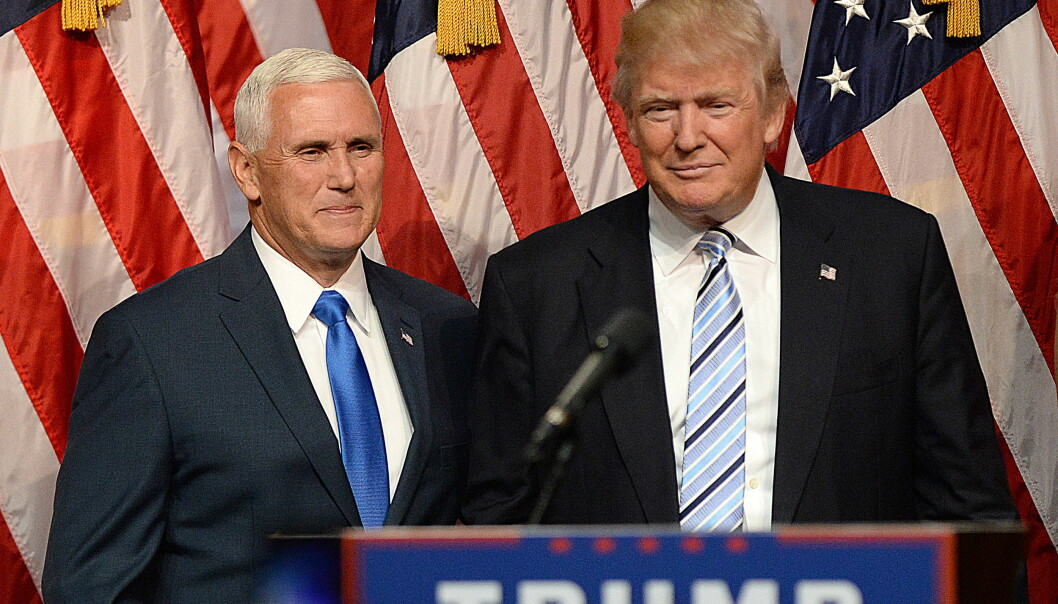 <strong>KLARE FOR KONVENTET:</strong> Donald Trump med makker Mike Pence. Foto: NTB Scanpix