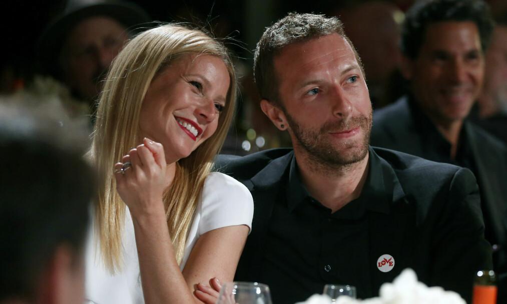 <strong>SKILT:</strong> Våren 2014 annonserte Gwyneth Paltrow og Chris Martin at de gikk fra hverandre, etter å ha vært gift siden 2003. Etter å ha vært separert i over to år ble skilsmissen sluttført i forrige uke. Foto: Colin Young-Wolff / AP / Scanpix