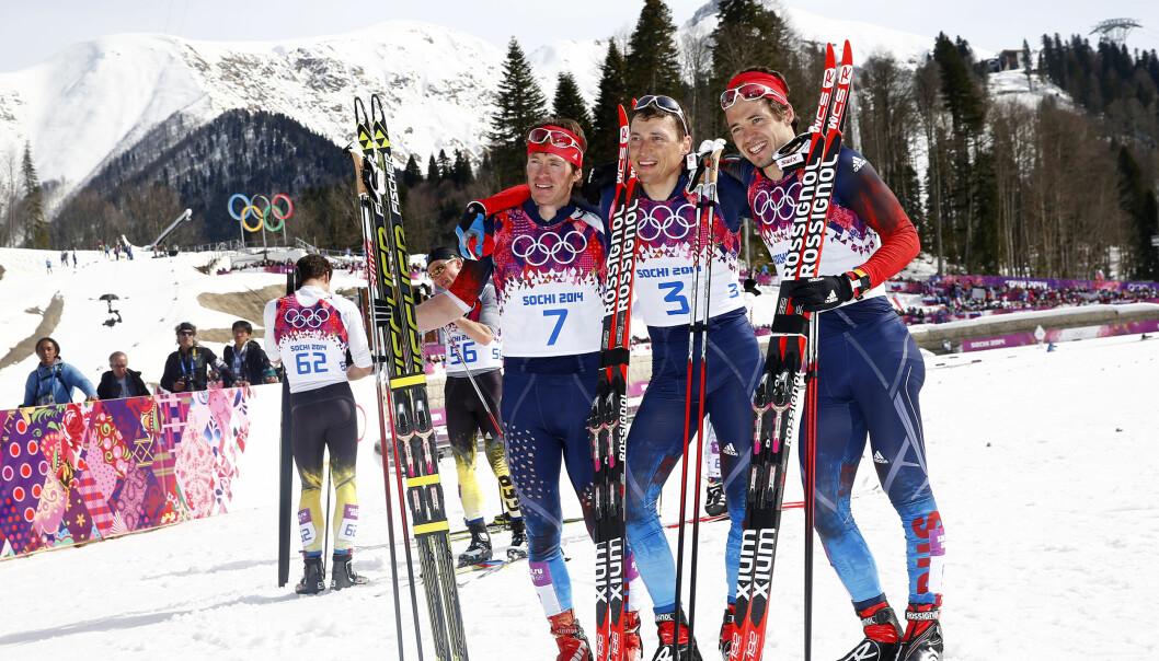 <strong>FORTSATT USKYLDIGE:</strong> &nbsp;Det er sportsnasjonen Russland som internasjonal idrett må ta et oppgjør med. Ikke den enkelte utøver som for eksempel de tre langrennsløperne som tok hele seierspallen under OL i Sotsji 2014.