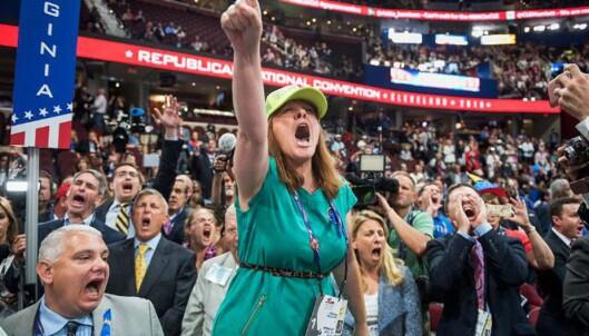 Her bryter kaoset ut under det republikanske landsmøtet