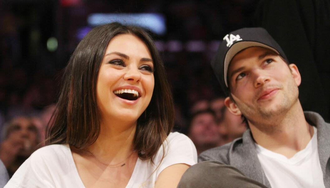 SNART TOBARNSFORELDRE: Mila Kunis og Ashton Kutcher venter barn nummer to. De fikk sitt første barn, dattera Wyatt Isabelle, i oktober 2014. Foto: Scanpix