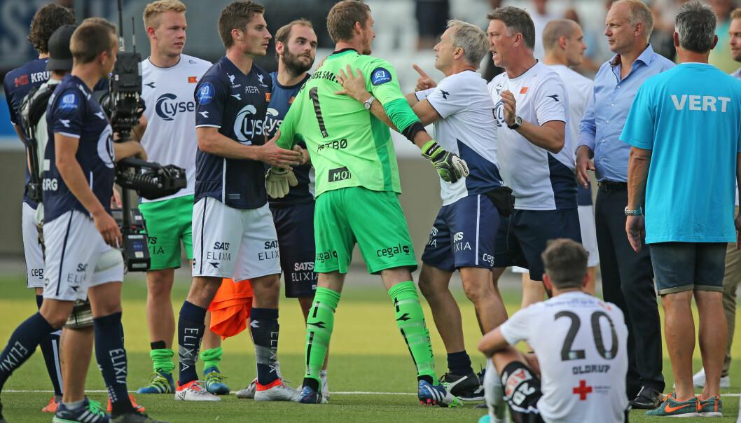 <strong>AMPERT:</strong> Iven Austbø ble bedt om å å holde kjeft av Viking-trener Kjell Jonevret. Foto: Trond Reidar Teigen / NTB scanpix