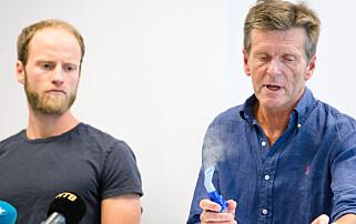 KRITIKK: Norsk langrenn, her ved Martin Johnsrud Sundby (t.v.) og tidligere landslagslege Knut Gabrielsen, har fått svært krass kritikk for bruken av forstøverapparater. Foto: NTB Scanpix