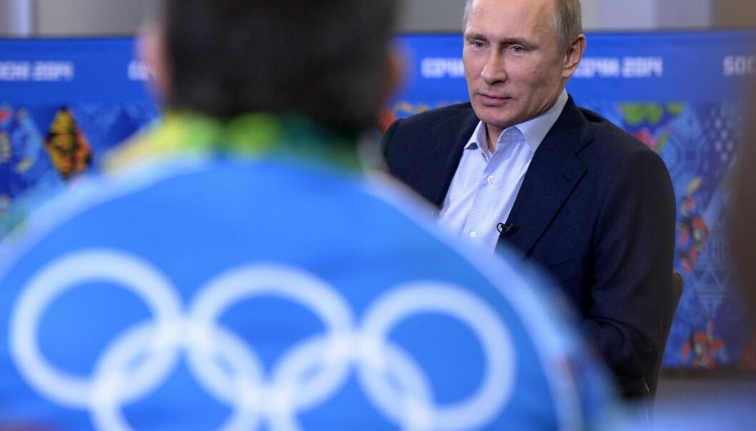 <strong>INNRINGET:</strong> Russlands president Vladimir Putin under OL i Sotsji i 2014. Foto: RIA-Novosti/Alexei Nikolsky/Scanpix