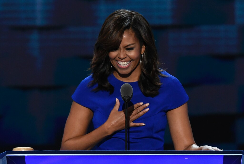 POPULÆR TALER: Michelle Obama får mye skryt for talene sine. Foto: Saul Loeb / AFP / NTB Scanpix