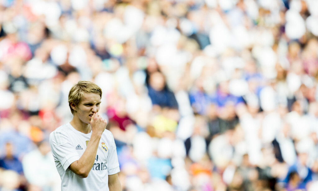 Oslo  20150809. Martin Ødegaard i aksjon under treningskampen i fotball mellom Vålerenga og Real Madrid på Ullevaal stadion. Kampen endte 0-0. Foto: Vegard Wivestad Grøtt / NTB scanpix