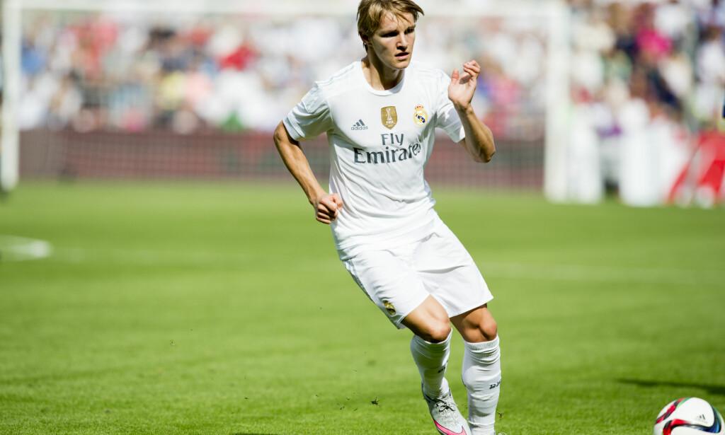 """TILLIT: Martin Ødegaard får etter all sannsynlighet sjansen for Real Madrid onsdag. Drammenseren er med i troppen mot Cultural y Deportiva Leonesa hjemme. &nbsp;<span style=""""background-color: initial;"""">Foto: Vegard Wivestad Grøtt / NTB scanpix</span>"""