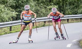 <strong>NÆRMEST:</strong> Heidi Weng ga Therese Johaug mest konkurranse opp Lysebotn, men hadde ikke mulighet til å holde følge hele veien.   Foto: Thomas  Rasmus skaug / Dagbladet