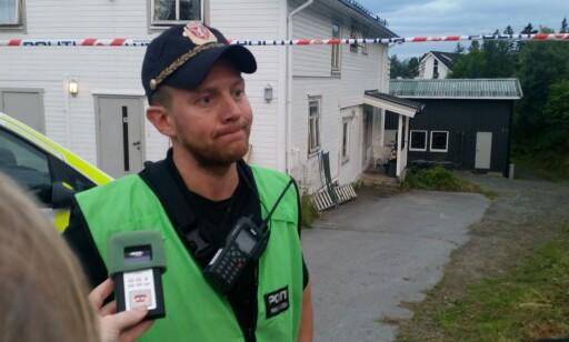 POLITIET PÅ STEDET: Innsatsleder Ruben Vollan. Foto: Lars Andersen