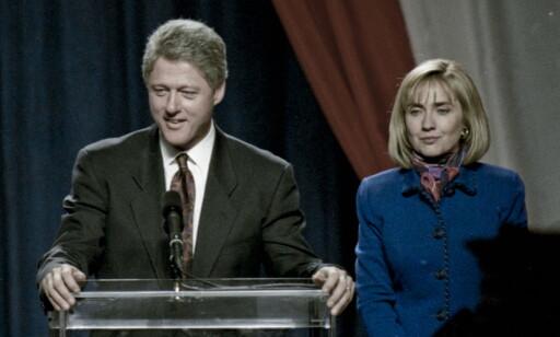 GAMLE DAGER: 3. november 1992 - for snart 24 år siden ble Hillarys ektemann Bill valgt til president. I år kan det være Hillary Clintons tur. Foto: NTB scanpix