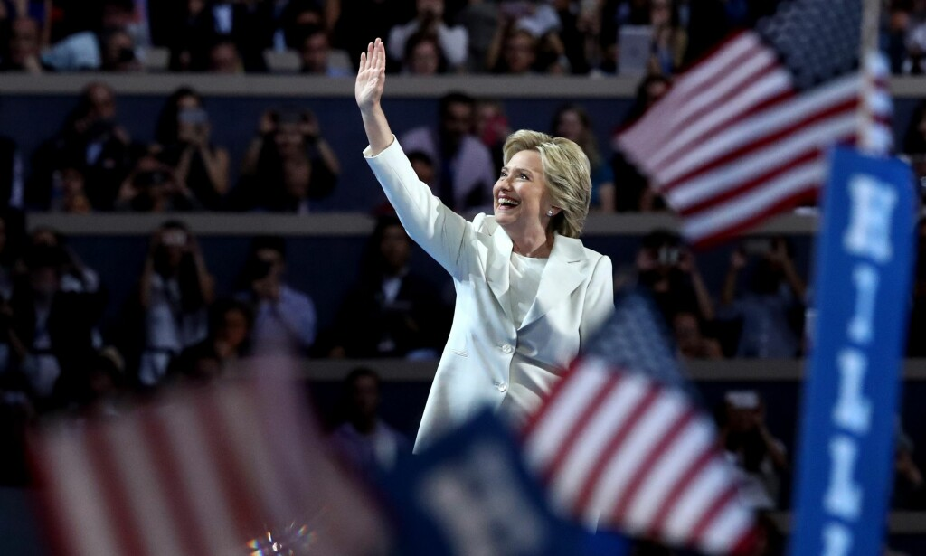 KANDIDAT: Hillary Clinton er nå Det demokratiske partiets presidentkandidat. Foto: Jessica Kourkounis/Getty Images/AFP