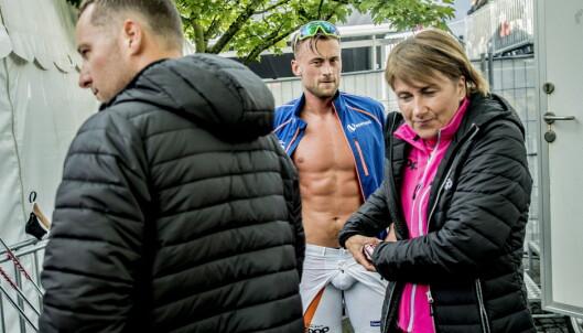 MAMMAS NYE ROLLE: May Fredly Northug stod på stavpost og passet på søndene sine under Blinkfestivalen. Foto: Thomas  Rasmus skaug / Dagbladet
