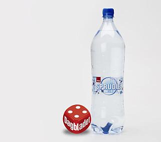 SPRUDLE: Lite pen flaske, men god drikkeopplevelse. Foto: ANITA ARNTZEN