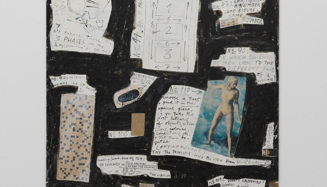 <strong>KRYSSORD:</strong> En del av verket «Reading/Work-Piece» signert kunstneren Arthur Køpcke består av et kryssord. Det kunne ikke den 91 år gamle dama dy seg for å løse. Foto: Neues Museum, Nürnberg