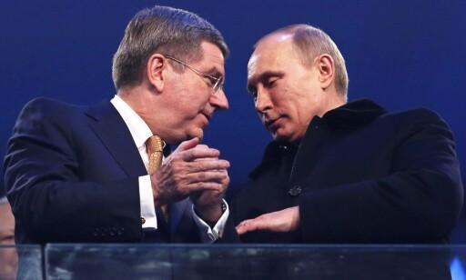 ALT FOR RUSSLAND: Mer og mer framstår utestengelsen av Russland som et politisk spill der det gjelder for IOC-president Thomas Bach å få russerne raskest mulig tilbake til den olympiske bevegelsen. FOTO: EPA/Barbara Walton.