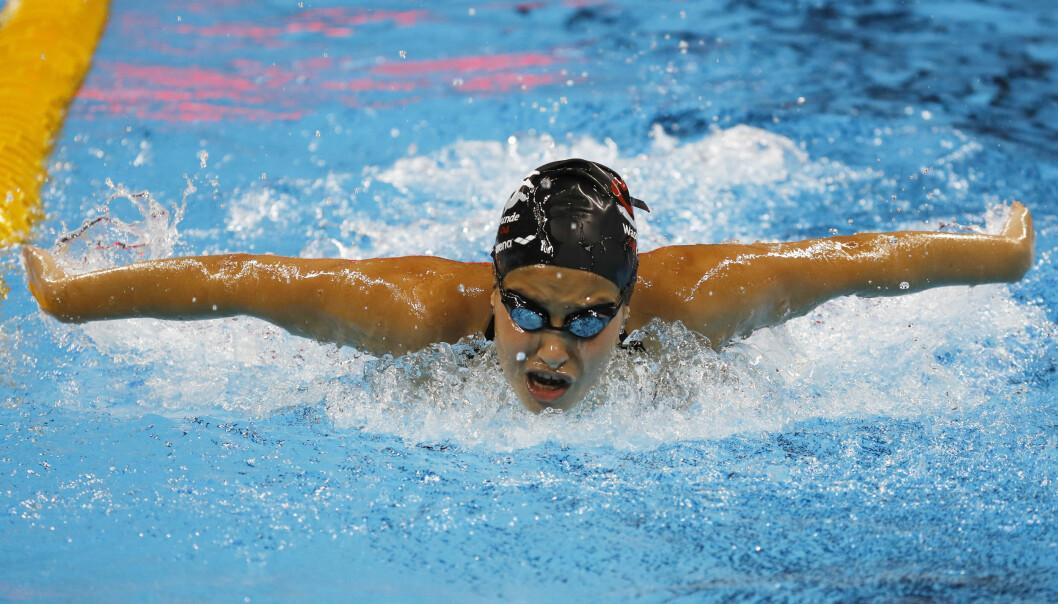 <strong>I VANNET:</strong> 18-åringen fra Syria skal kjempe mot verdens beste svømmere i vannet i Brasil. Foto: &nbsp; &nbsp; &nbsp; &nbsp; &nbsp; &nbsp; REUTERS/Stefan Wermuth&nbsp;