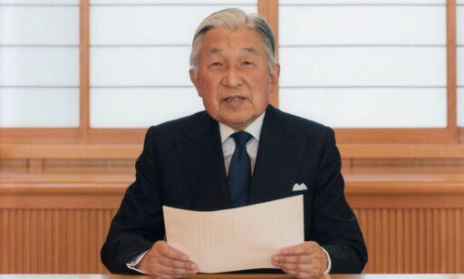 image: Japans keiser abdiserer 30. april 2019