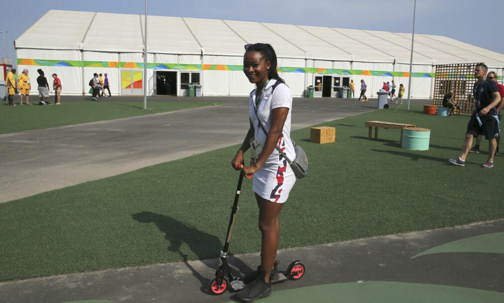 <strong>STARTKLAR:</strong> Ezinne Okparaebo er klar for sitt tredje OL. Hun håper det blir det beste. &nbsp;Foto: Vidar Ruud / NTB scanpix