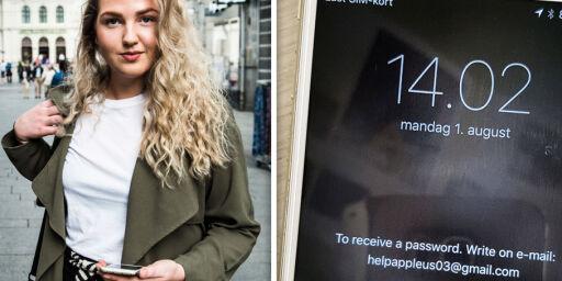 image: iPhone-en til Ragnhild ble låst av kriminelle