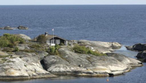 PRIVAT: Kronprinsparet øya Flatholmen med hus i Risørs skjærgård, som ble kjøpt for 9 millioner kroner i 2008. Foto: Tor Erik Schrøder / SCANPIX