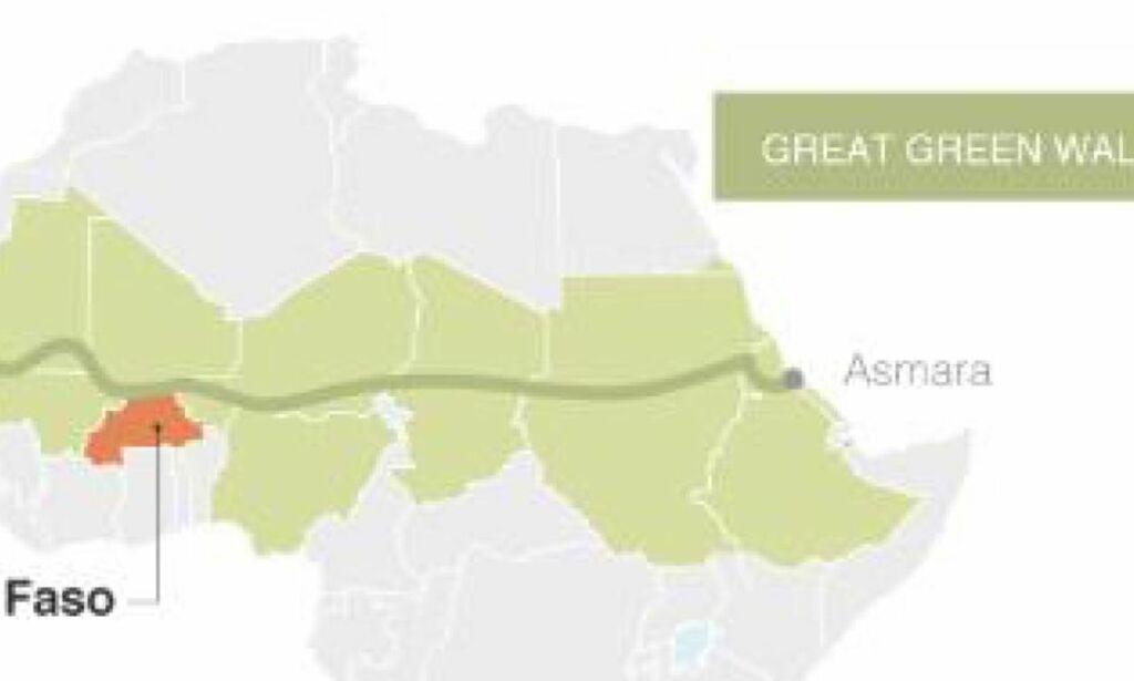 image: En grønn mur av 7000 km trær skal redde 500 mill. mål med land og hindre ekstremisme