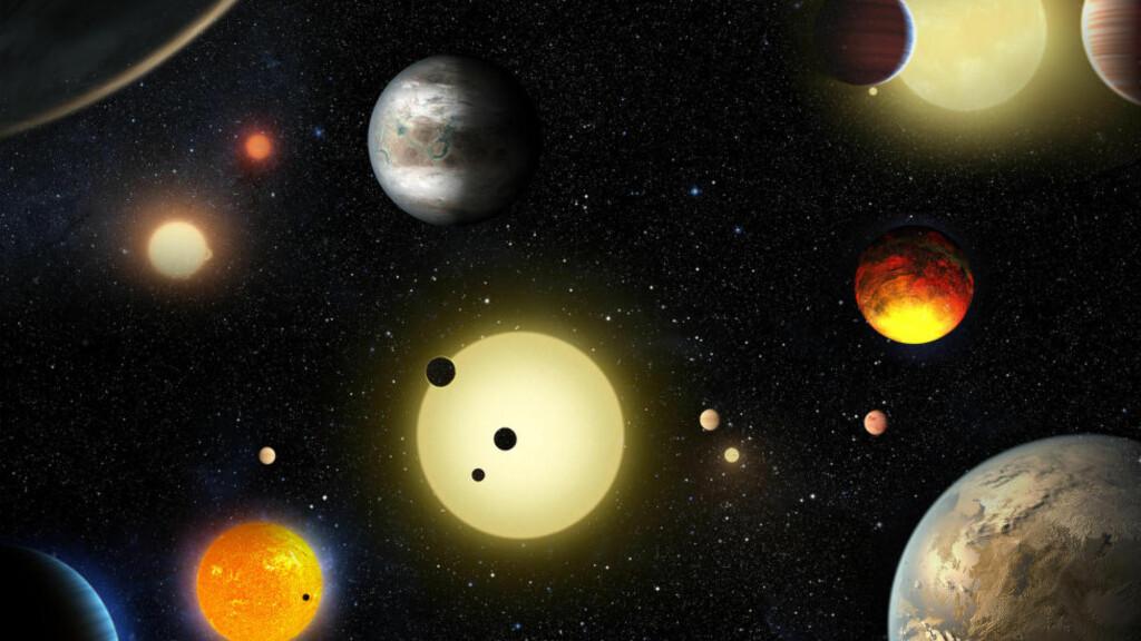 PLANET-BOOM: Tirsdag kveld kunngjorde NASA i en pressemelding at de ved hjelp av Kepler-teleskopet har funnet 1284 nye planeter. Hele ni av disse er teoretisk sett beboelige. Foto: NASA