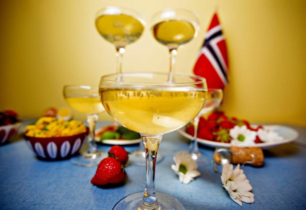 BOBLEFROKOST: 17. mai er for mange synonymt med bobler i glasset. Her får du tipsene som kan gjøre drikken enda mer forfriskende. Foto: ANITA ARNTZEN