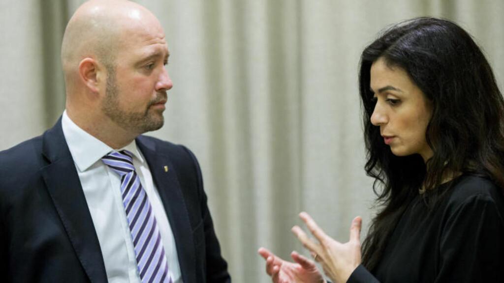 -BARE EN AV OSS ER MØRK: Hadia sier Anders Anundsen ikke skal gjøre seg høy og mørk.  Foto: Vegard Wivestad Grøtt / NTB scanpix