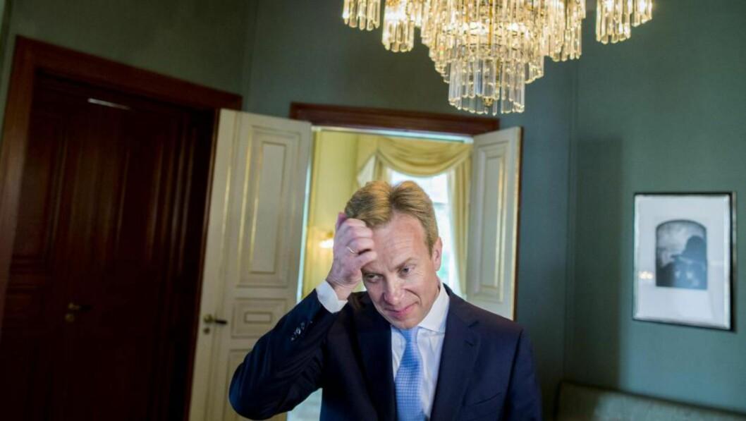 <strong>FORSIKTIG:</strong> Utenriksminister Børge Brende ønsket ikke å gå inn i detaljene, men uttrykker klar misnøye med flere av Donald Trumps utspill. Foto: NTB SCANPIX