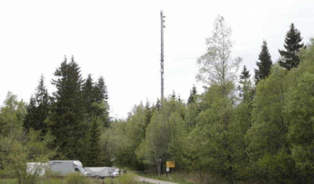 BESKYTTET OBJEKT:  Høymasta i Borås er et såkalt beskyttet objekt og står inne på et avsperret område. Foto: Adam Ihse / TT / NTB Scanpix