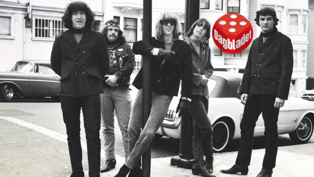 IKONISK BAND: Grateful Dead - fra venstre Jerry Garcia, Pigpen, Phil Lesh, Bob Weir og Bill Kreutzmann - i ikonisk Haight/Ashbury-positur.