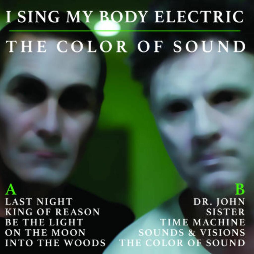 image: I Sing My Body Electric med vinylplate som klinger i fire farger